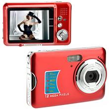 "DC-520 2.7"" TFT-LCD 12MP Portable Digital Camera with 8X Digital Zoom /Anti-shake /Face Detection /SD Slot (Red)(China (Mainland))"