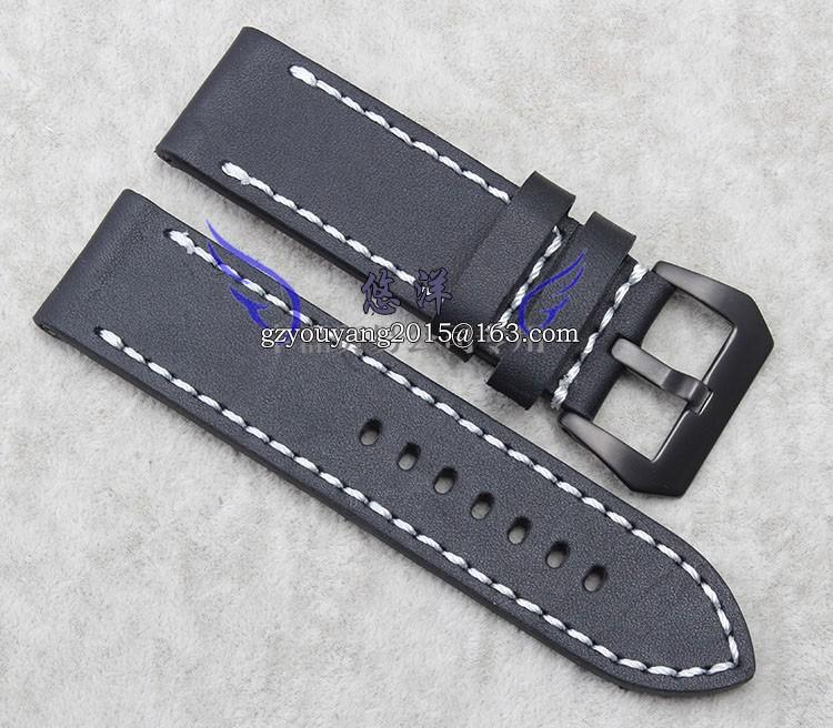Кожаный ремешок адаптер PAM1831950 24 | 26 мм черный ремешок матовое застежка