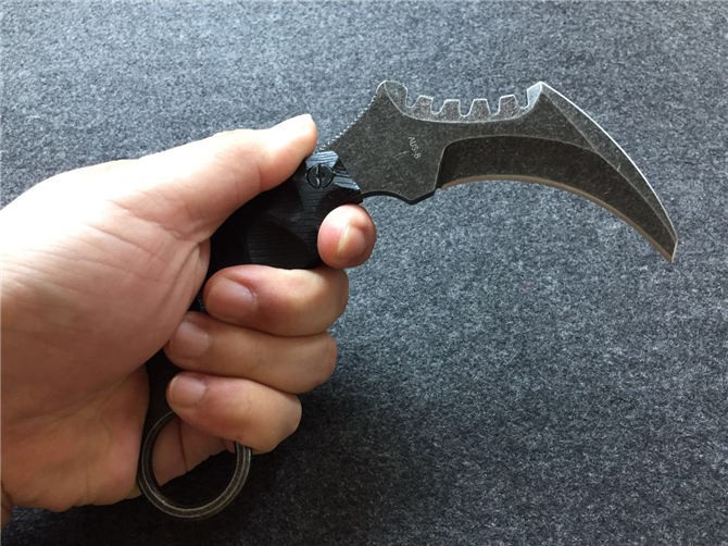 Buy New THE ONE Karambit Knife Fixed AUS-8 Blade Knife Survival Knives Hunting Tactical Knifes G10 Handle Camping Outdoor Tools K71 cheap