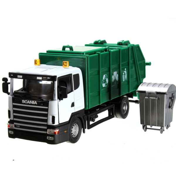 NEW 18*8*7cm Scania truck garbage truck waste truck eco-friendly car transport vehicle model toy as gift for boy children(China (Mainland))