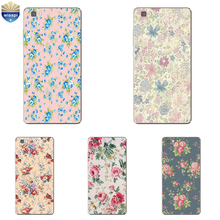 Phone Case Huawei P8/P8 P9 Lite Plus G9 Shell Honor 4A 4C 5C 7 7I Back Cover Mate 8 Cellphone Floral Print Design Painted - WISAPI Store store