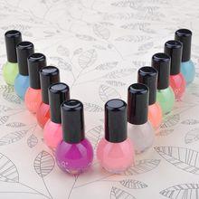 8 ml Neon Fluorescent Non-toxic Nail Polish Nail Varnish Lacquer Paint Nail Art for Lady Girl(China (Mainland))