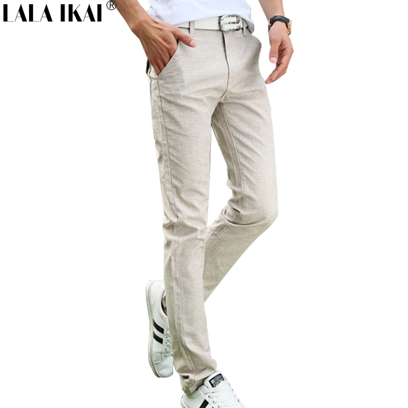 Linen Spring Summer Thin Men's Trousers Long Mid Rise Pants Men 2016 Solid Male Casual Pants Man Cool Hot Sale KMA0089-5(China (Mainland))