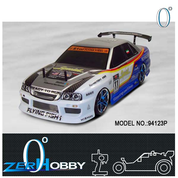 rc car 1/10 scale flying fish drifting car - hsp 94123 (battery not included)(China (Mainland))