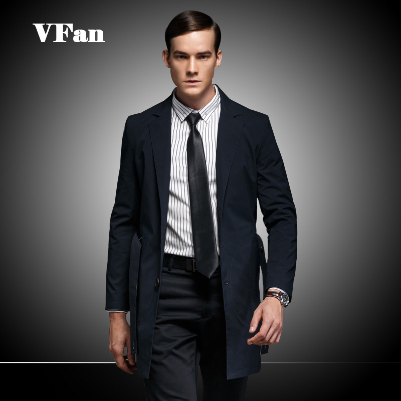 British Style Men's Trench Coat 2015 Autumn Brand Design Long Sleeve Single Breasted Mens Casual Overcoat Jackets Z1493-Euro(China (Mainland))