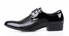 2015 New British Men's Leather Shoes Fashion Man Pointed Toe Formal Wedding Shoes Male Flats Dress Shoes Size 38-44(China (Mainland))