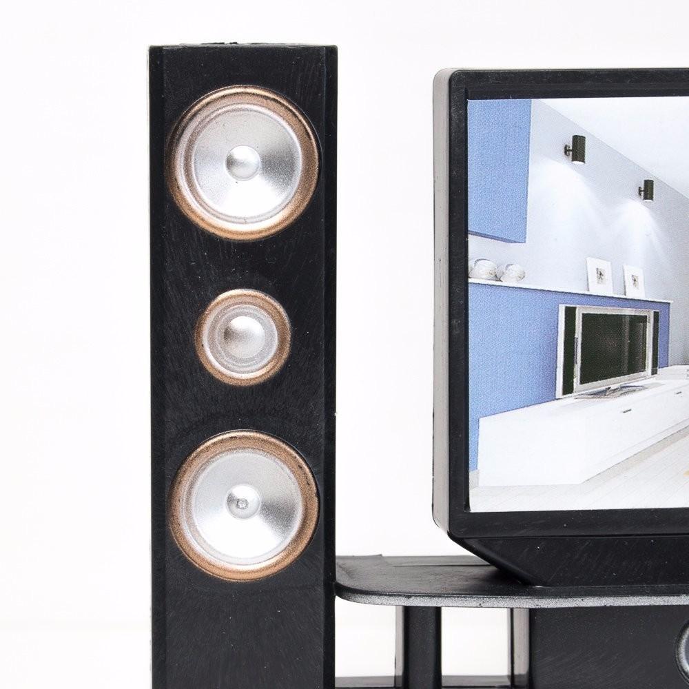 E-TING Vogue Hello-Fi TV Cupboard Set Dollhouse Furnishings Decor Equipment For Barbie Doll Furnishings