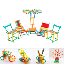 Buy 450pcs Building Blocks puzzle Toy Assembled Toys Smart Stick Plastic Building Blocks Children Educational Toys for $9.32 in AliExpress store