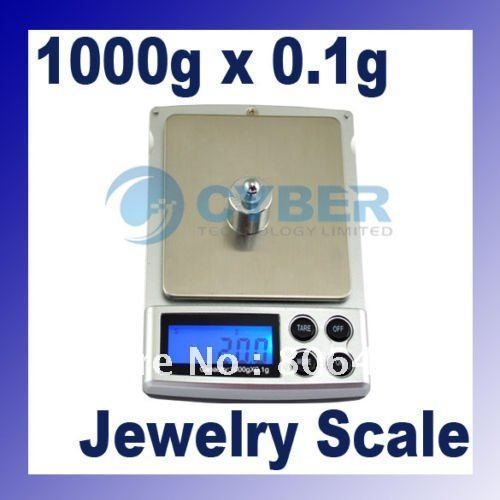New 1000 x 0.1Gram Pocket Jewelry Digital Scale Balance 31