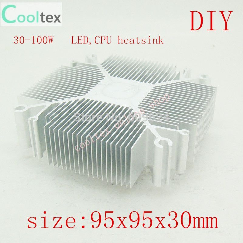 2015 DIY LED Heatsink 30w-100w Pure aluminium heat sink radiator for Led Light cooler cooling(China (Mainland))
