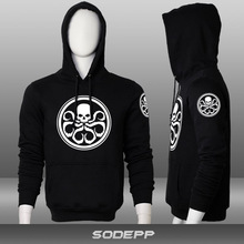New 2015 free shipping Agents of S.H.I.E.L.D. The Avengers Hydra Captain America man  sports full zip cardigan Free shipping