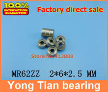 Buy Free 10 PCS MR62ZZ ABEC-5 2X6X2.5 mm Deep groove Ball Bearings MR62 / R-620 ZZ ) for $8.00 in AliExpress store