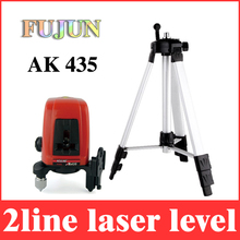 2 líneas nivel láser ak435 giratorio 360 nivelación 1V1H giratorio cruz lazer niveles línea horizontal y vertical + max 1.5 m trípode LL34