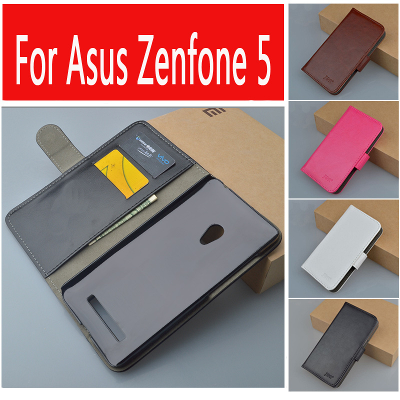 J&R Brand Crazy horse Flip Leather Case for Asus ZenFone 5 A501CG Wallet Cover with Card Slot and Stand Function 9 Colors(China (Mainland))