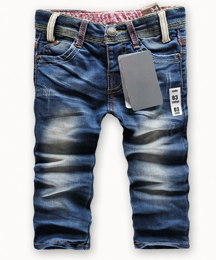 Retail fashion cool cotton denim boys jeans brand children's long pants for 2-10 years kids girls pants 1pcs baby gift hot sell(China (Mainland))