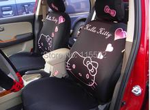 10pcs/set Black Plush Hello Kitty car series car cushion seat cushion car seat cover Free shipping KT22(China (Mainland))