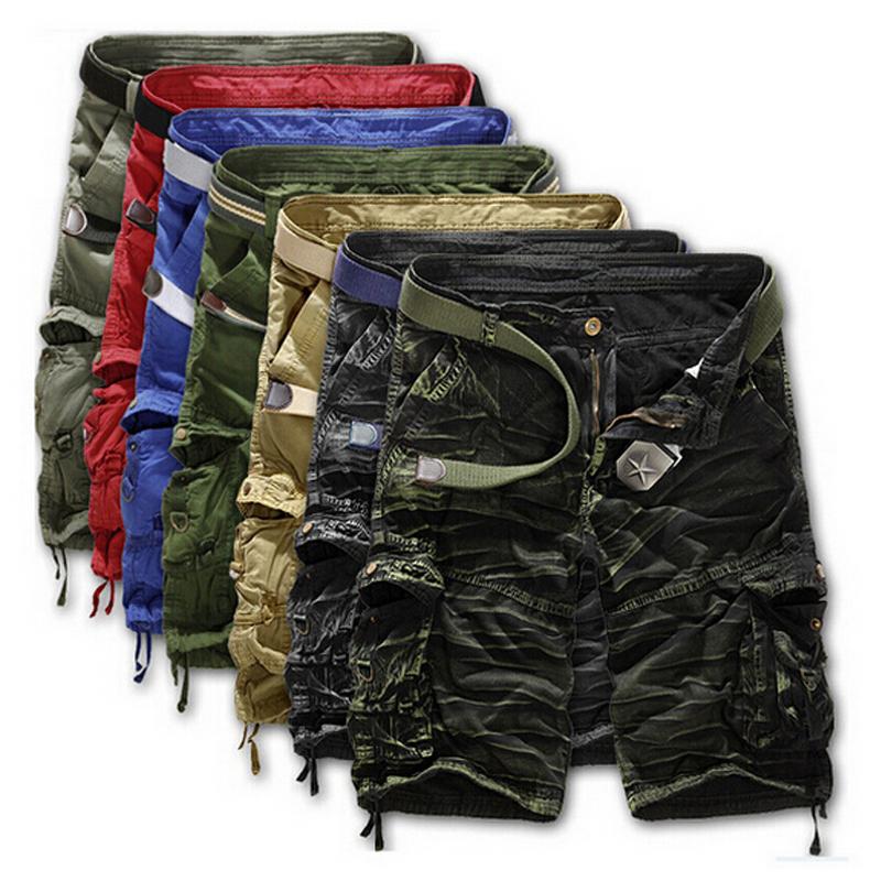 2015 shorts masculina Camouflage Cargo Military Shorts Men Outdoor Cotton Loose Running Shorts Men Army Short Pants Bermuda(China (Mainland))