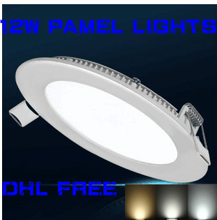 HOT!led panel light 12W LED Downlight Ultra thin led ceiling led panel light DHL FREE(China (Mainland))