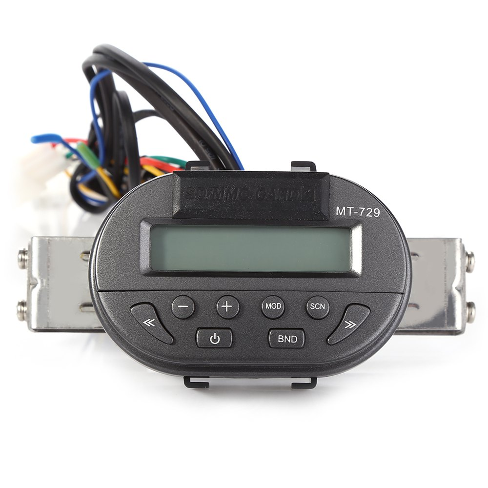 MT729 Motorcycle Handlebar SD Remote Radio Audio Mp3 Speaker LCD Display Water Resistant Anti-theft Automatic Power-off Memory