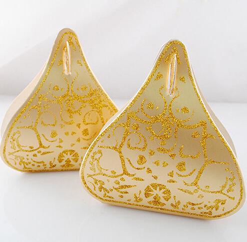 50pcs European Romantic Candy Boxes Gold Peach Heart Wedding Favors(China (Mainland))