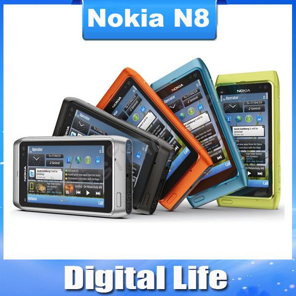 "N8 Original Nokia N8 12MP 3G GPS WIFI 16GB Internal Storage 3.5"" Touch Screen Unlocked Cell Phone(China (Mainland))"