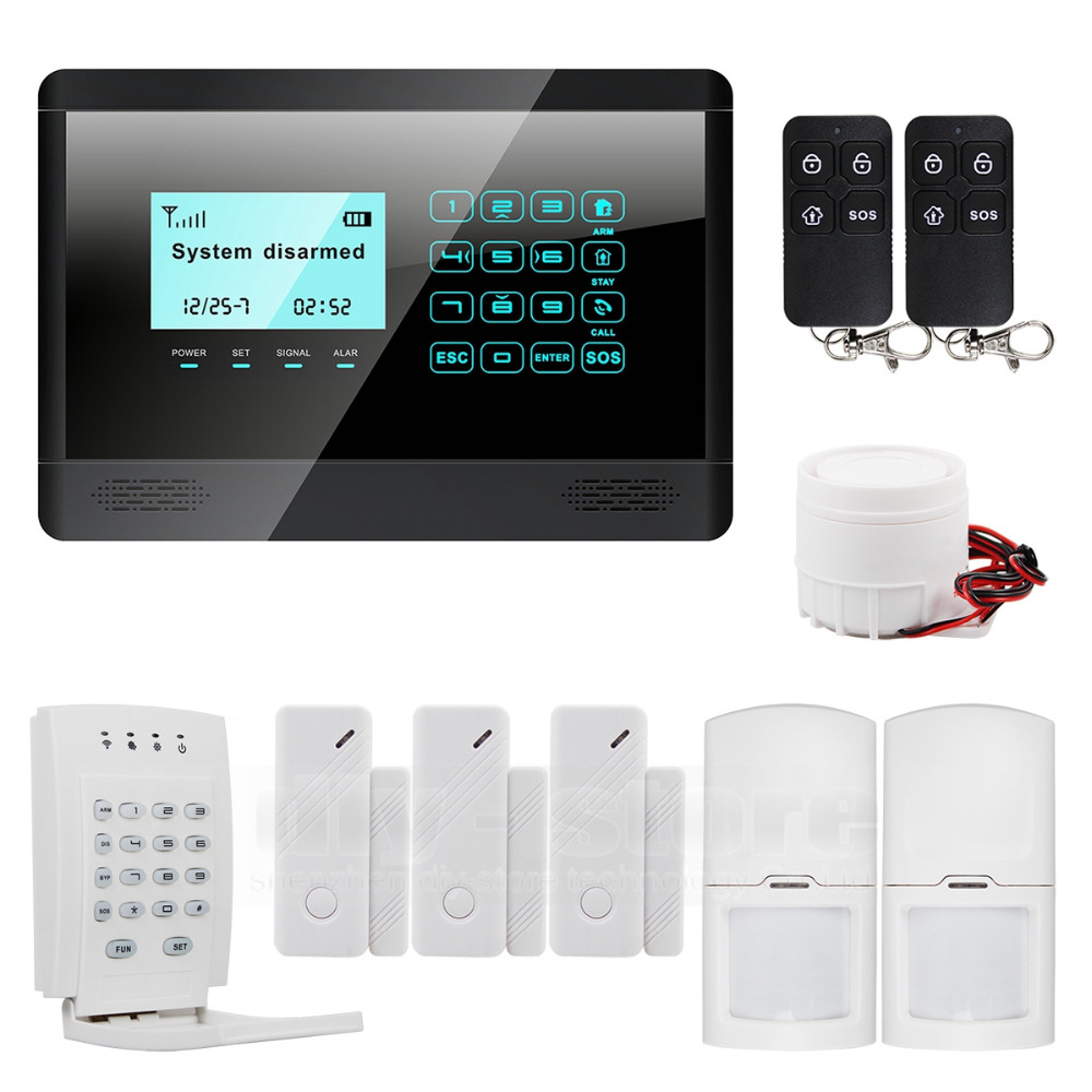Wireless GSM short message touch keyboard home alarm system touch screen high quality + wireless password keyboard(China (Mainland))