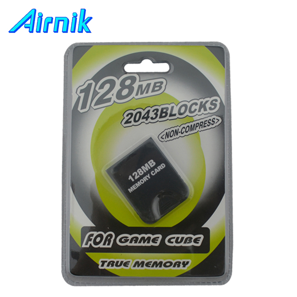 Real 128MB 2043 blocks NON-Compress Memory Card for GC for GameCube Console With Retail Packaging(China (Mainland))