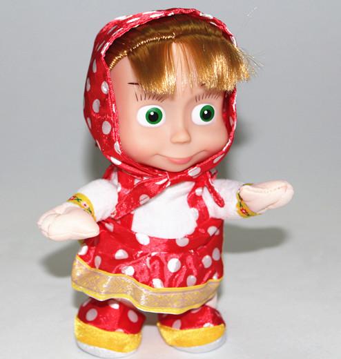 22cm Russian walking repeat talking Masha Music Dolls plush Toy masha and bear cartoon For Kids Baby Girls Russia Unique Gifts(China (Mainland))