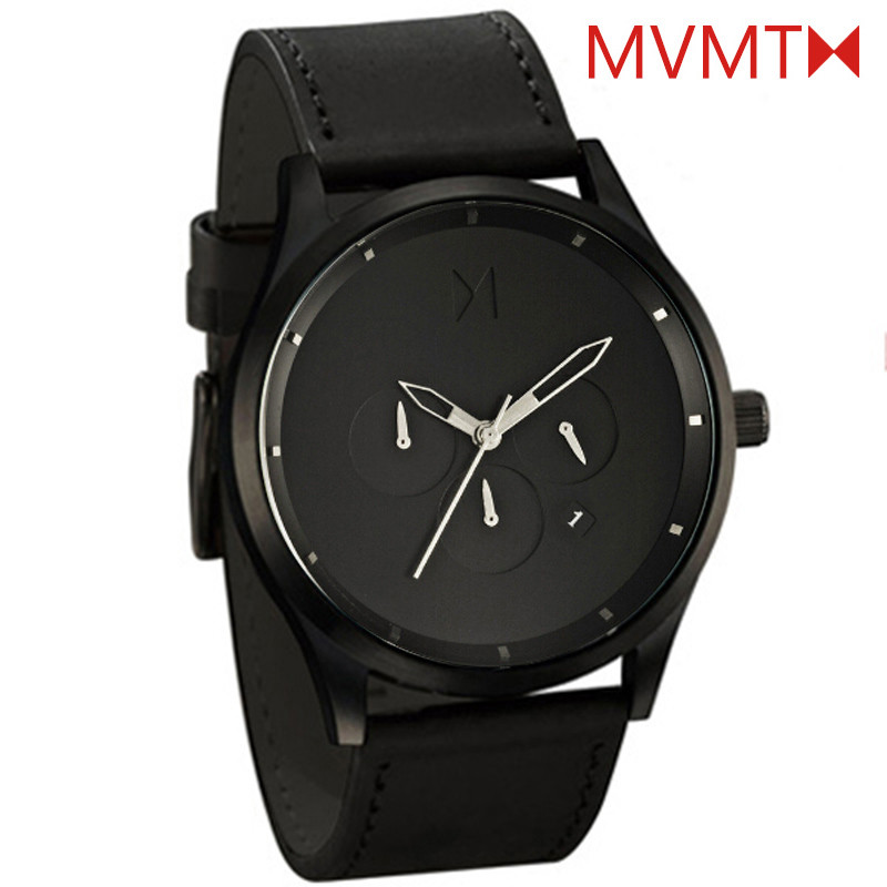 Relogio Masculino 2016 Hot Brand MVMT CHRONO Watches Men High Quality Genuine Leather Quartz Analog Clock Male Sport Wrist watch