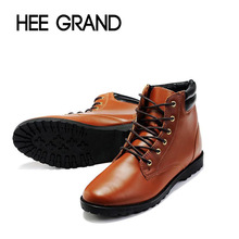2015 Hot Sale Fashion Solid PU Leather Boots For Man Casual Pointed Toe Comfortable Ankle Boots For Spring & Autumn XMB014(China (Mainland))