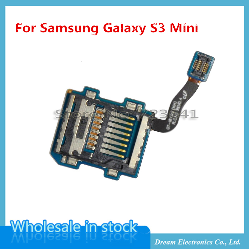 5pcs/lot Original for samsung galaxy s3 mini i8190 Micro SD SIM Card Tray Slot Holder Reader Flex Cable Replacement Part(China (Mainland))