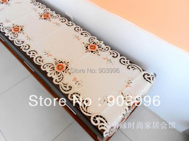 size:60*120cm-European-style luxury 807 rural hollow out flag embroidered fashion contracted foreign trade table cloth(China (Mainland))
