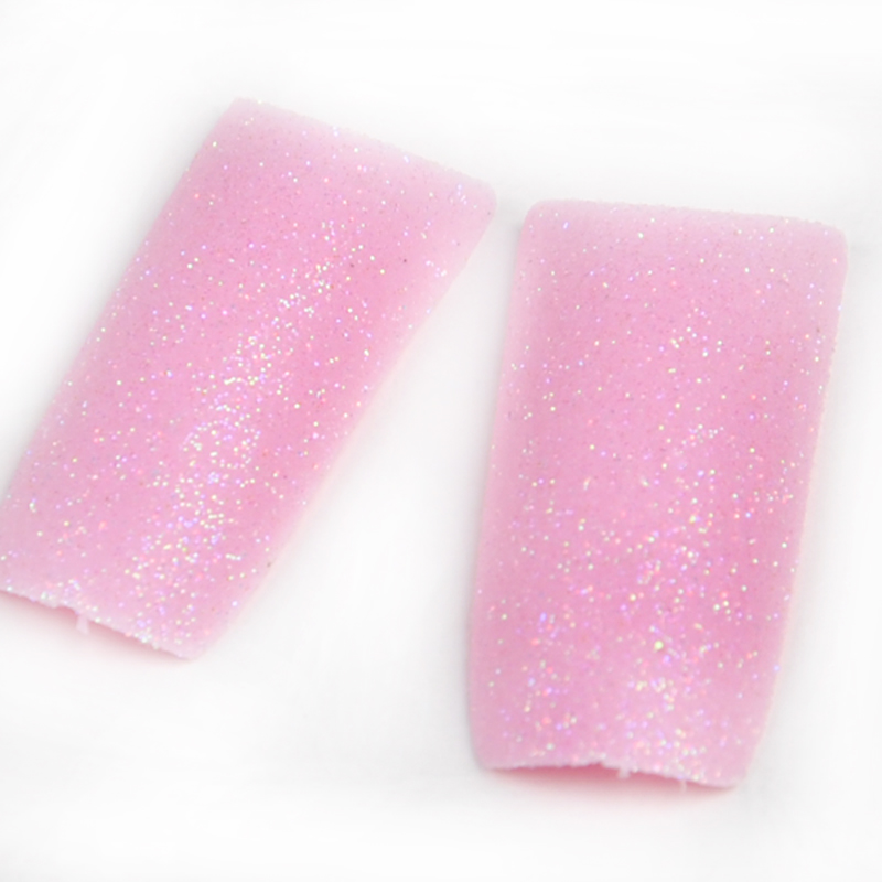 70PCS/PACK Beauty Super Light Pink Glitter Design Acrylic Tip False French Nail Tips Maiden Color(China (Mainland))