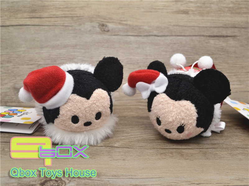 2015 Newest Japan Christmas Gift TSUM Mini Minnie Mickey Mouse Daisy Donald Duck Small Tsum Plush Collection Cute Toy Dolls