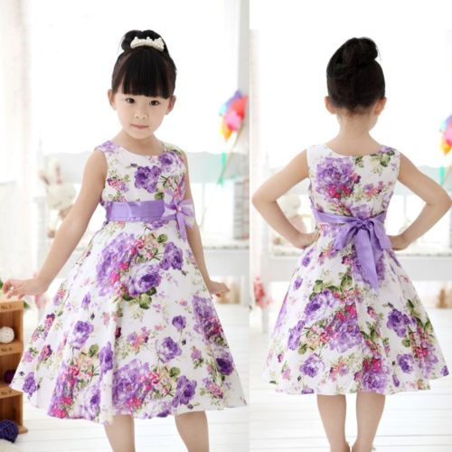 Baby children clothing 2014 new spring sweet flower bow lace girls dresses kids princess girls clothes baby girl party dress(China (Mainland))