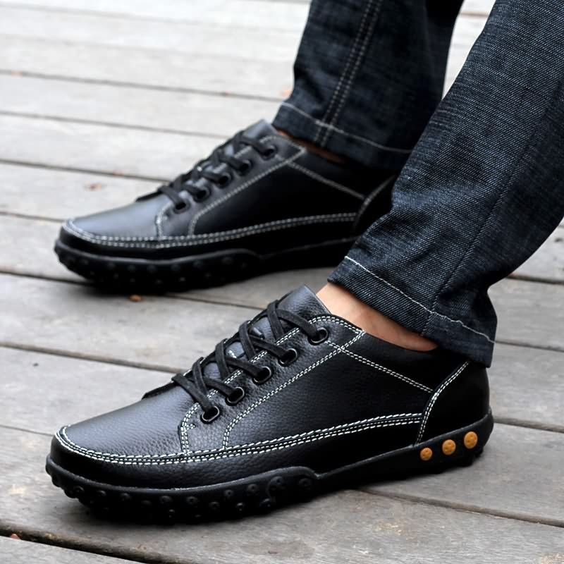 Creepers Tenis Feminino New Real Closed Toe Medium(b,m) Spring/autumn Lace-up Round Plain Men Shoes Fashion Casual Men's In 2015