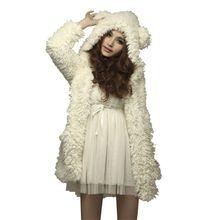 Buy H34 WJ Women Thicken Fleece Coat Jacket Fashion Winter Warm Outerwear Hoodies Kawaii Bear Ears Hooded Chaquetas Mujer for $18.14 in AliExpress store