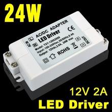 AC100-240V to 12V 2A Output 24W LED Driver AC DC Adapter Power Supply 24 Watt Lighting Transformer for LED Lamp Strip 110V 220V(China (Mainland))
