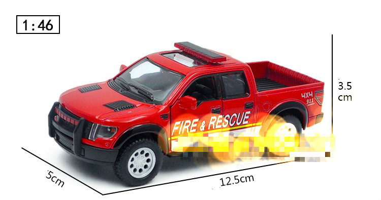 Kid Toys Colecionaveis Car Styling 1:46 Die cast Model Car Brinquedos For Pick-up Fire Truck Car Alloy Toys Gift Display(China (Mainland))