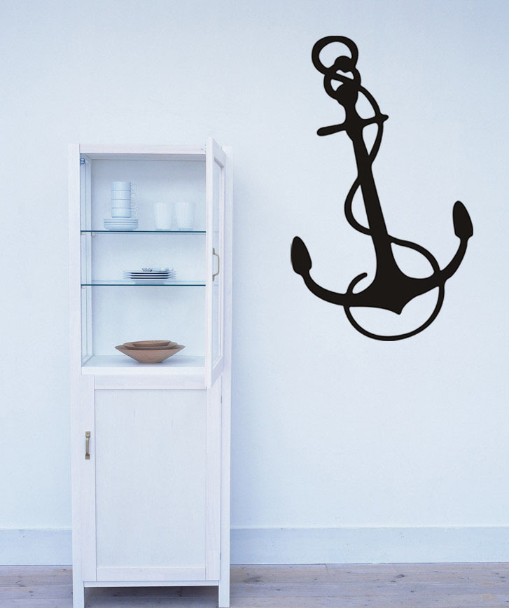 Big Nautical Anchor Kids Room -Art Vinyl DIY wall sticker decal decor quote lettering gift home shop room decoration(China (Mainland))