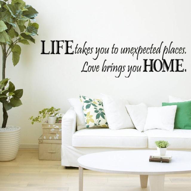 Любовь приносит вам дома стены цитатой этикета стены декоративные съемный стикер стены стикеры главная украшения искусства ногтя 8081