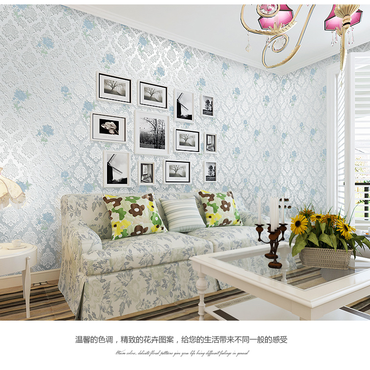 Buy Flower Wallpaper Floral Non Woven Textile Wall Paper Print Rustic Home Decor Living Room Tv