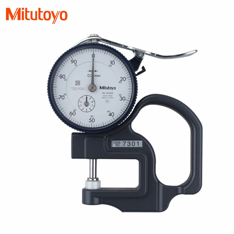 G Original Mitutoyo 7301 Dial Thickness Gage 0-10mm/0.01 Shock-Proof Tester Meter Flat Anvil Measuring Tools T<br><br>Aliexpress