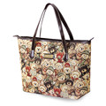 Lovely Bears Print Ladies Stylish Tote Contrast Color Splicing Trendy Fashion Cheap Hand Bag Women All