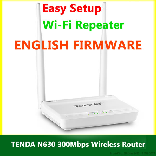 English Firmware TENDA N630 WiFi Router 300Mbps 802.11 b/g/n Wireless Router Wi-Fi Repeater Network Range Expander RJ45 4 Ports(China (Mainland))