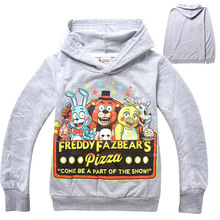 2015 AAA+ Quality 2 Color 5 Size Kid Boy Girls Youth Five Nights at Freddys Hoodies Coat Jacket Outwear Gift(China (Mainland))