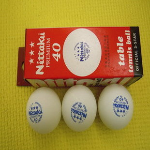 Free shipping Nittaku Table Tennis Ball 3 Star Ball Premium 40mm 6 Pcs / 1lot Ping Pong Balls Color(China (Mainland))