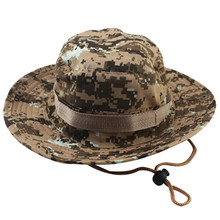 Military Camouflage Bucket Hats Jungle Camo Fisherman Hat with Wide Brim Sun Fishing Bucket Hat Camping Hunting Caps 8 Styles(China (Mainland))