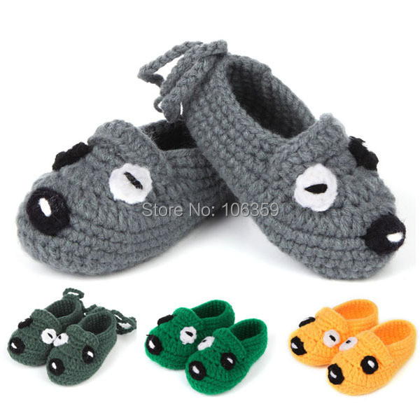 Newborn Toddler Crochet Shoes Handmade Knitted Animal Style Baby Booties Infant First Walker 5 Pairs XZ030(China (Mainland))