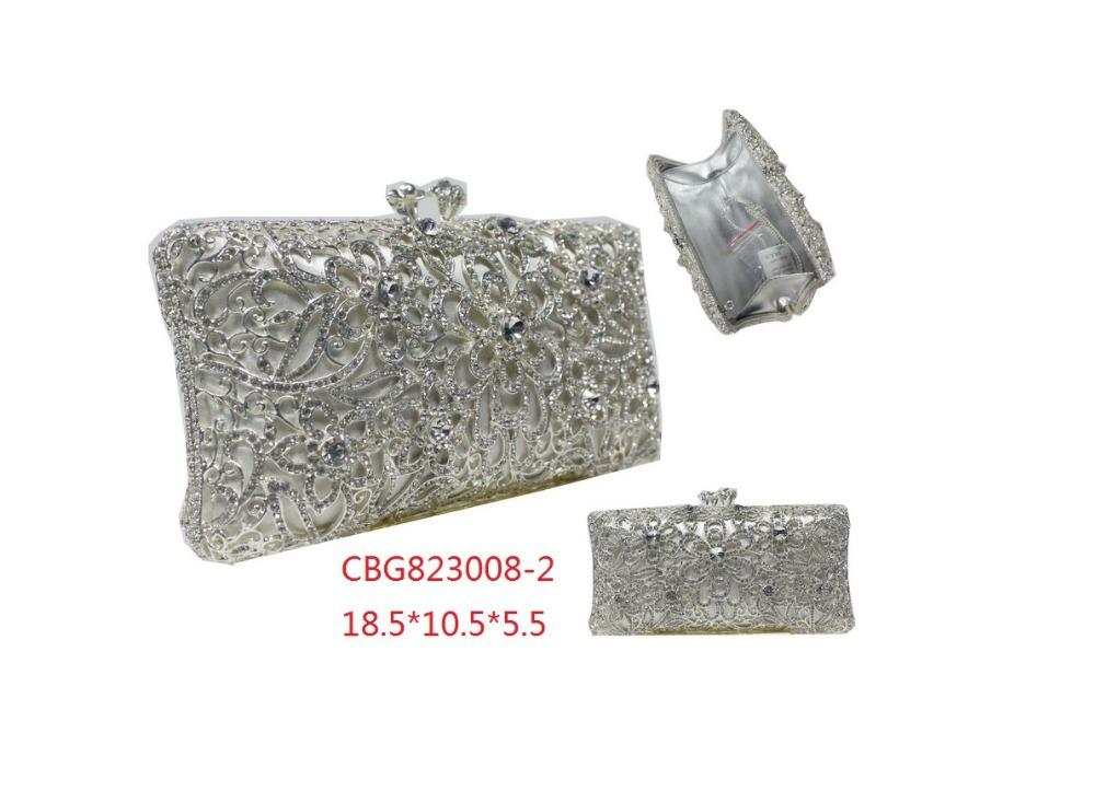 Gift Box 4Colors Brides Clutch Wedding Crystal Evening Clutches Ladies Luxury Diamonds Purse Women Bag Handbags Rhinestones Bags(China (Mainland))
